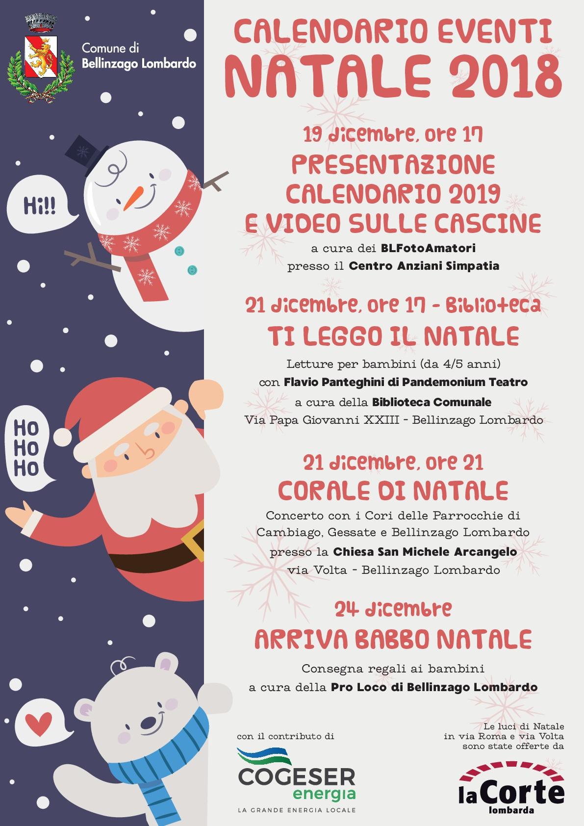 Regali Di Natale Per Bambini 5 Anni.Calenario Eventi Natale 2018 Comune Di Bellinzago Lombardo